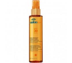 Nuxe Sun Aceite bronceador Rostro y Cuerpo Spray SPF30+ 150 ml