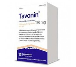 TAVONIN (120 MG 15 COMPRIMIDOS RECUBIERTOS )